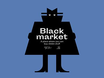 Black Market poster design character market logo visual design vector illustration graphic design