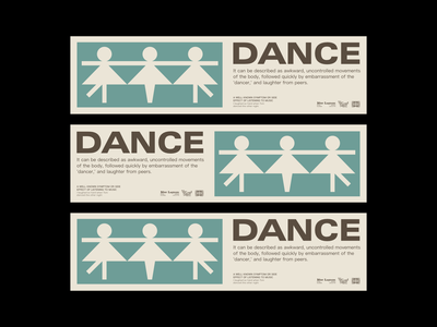 Dance cards vector illustration corporate identity visual design branding logo design graphic design
