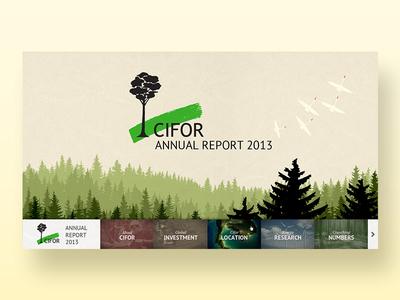 Digital Annual Report (Alternative B) non-profit landscape map home digital report earth research forest infographic web annual report