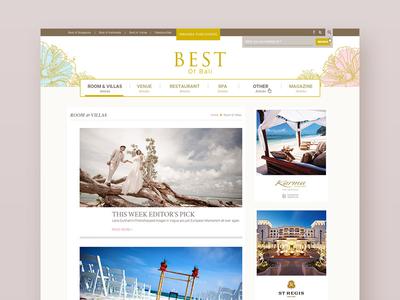 Digital Magazine - Article Listing Page grid blog reader lifestyle gold feminine bali travel wedding list article magazine