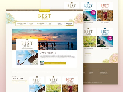 Magazine Archive grid blog reader lifestyle gold feminine bali travel wedding list archive magazine