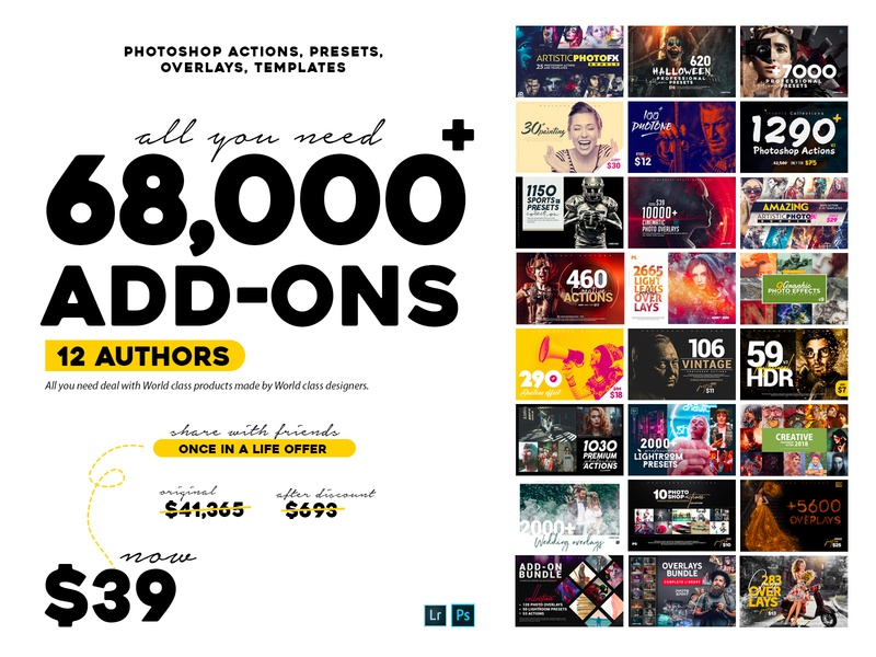 ALL YOU NEED MIGHTY BUNDLE  -  $39 ONLY designer pack photoshop actions lightroom preset actions photoshop