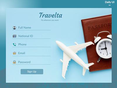 Daily UI _ Travelta ui-challenge ui daily-ui-challenge signup dailyui sign-up daily-ui 001