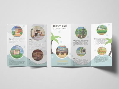 Merryland Brochure layout illustration brochure fan art