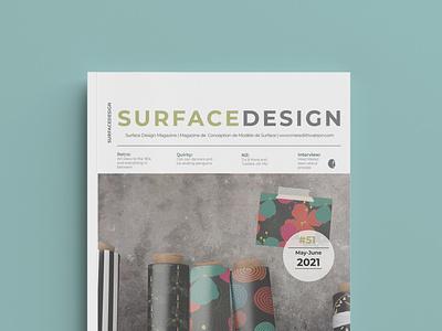 Surface Design Magazine pattern design magazine cover layout graphic design