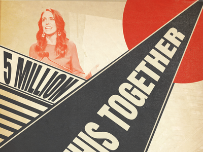 All IN THIS TOGETHER illustrator constructivism graphic design poster