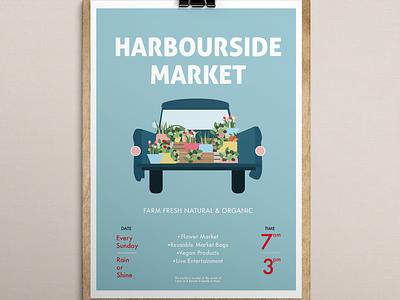 Harbourside Market vector design poster illustration graphic design