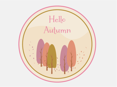 Hello Autumn challenge graphic design illustrator illustration