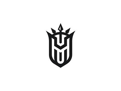 Shield Concept monogram logo design branding ackd