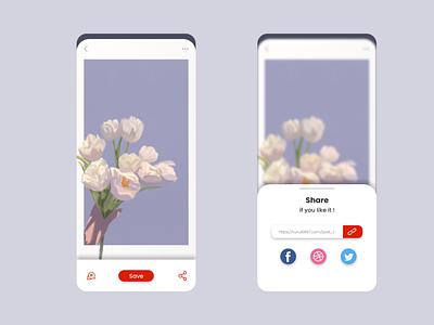 Social Share | Daily UI #010 design ui 010 dailyui