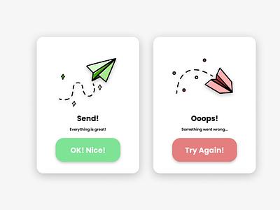 Flash Message | Daily UI #011 vector design ui 011 dailyui