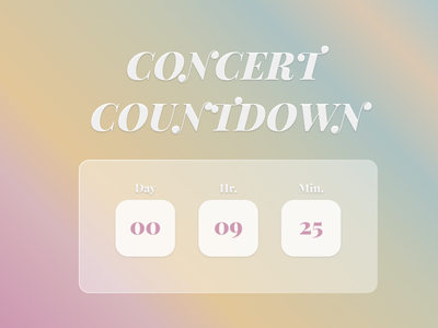 Countdown Timer | Daily UI #014 countdown timer design ui 014 dailyui