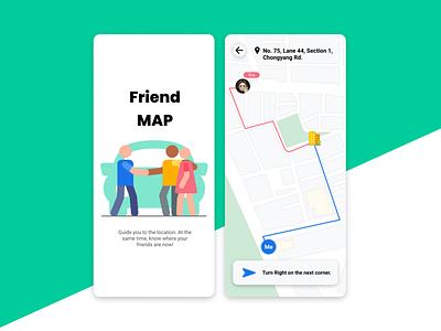 Location Tracker | Daily UI #020 track friends location map 020 dailyui