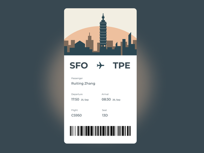 Boarding Pass | Daily UI #024 taipei tpe boardingpass 024 app design ui dailyui