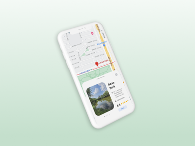 Map | Daily UI #029 3d map app gradient design ui dailyui