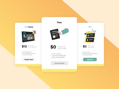 Pricing | Daily UI #030 illustration app card pricing web gradient design ui dailyui