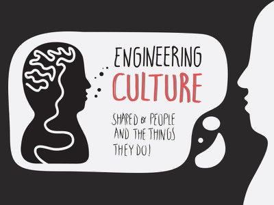 About Engineering Culture typography illustration