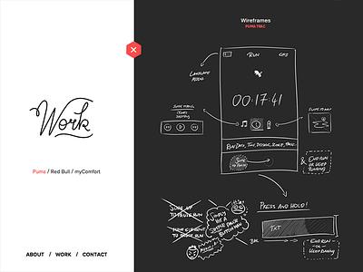 Puma Trac Wireframes typography scribble portfolio wireframe