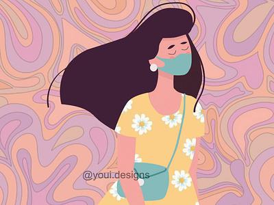 THE PANDEMIC GIRL icon typography ux motion graphics animation 3d branding logo graphic design ui app vector illustration design