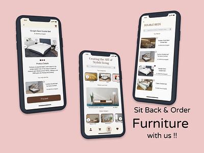 Furniture App ! logo animation icon vector illustration mobile app app design furniture app portfolio user interface web design branding ux application graphic design design ui