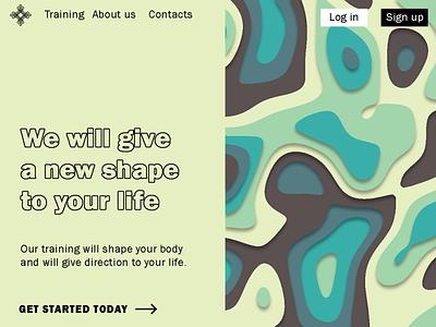 Shape of life- landing page branding ui logo vector illustration typography