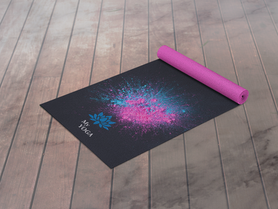 My YOGA-mat mockup ui logo design illustration typography