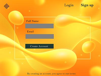 Sign up page ui logo design illustration typography