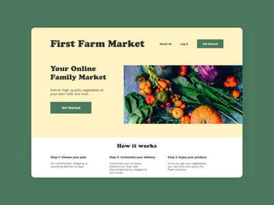 Vegetable Delivery Website website design ui ux design uxui ui design