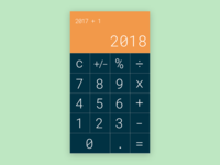 Daily UI Design Challenge 004 Calculator