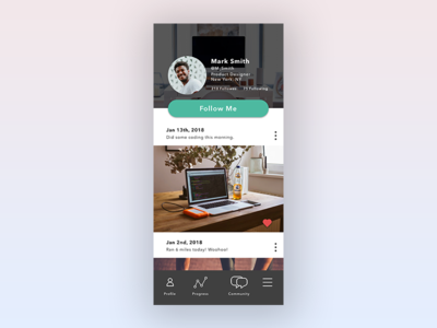Daily UI 006 User Profile social media user profile daily ui challenge daily ui 006 daily ui