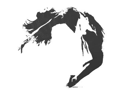 Falling dancer aidanjude screen print illustration stencil ballet dancer dance print screenprint