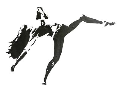 Movement aidanjude screen print art illustration stencil ballet dancer dance print screenprint