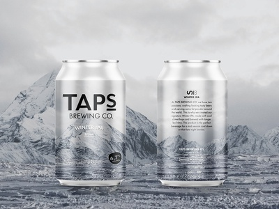 Taps Winter IPA label design craft beer label brewery mountain snow mountains ipa packaging can beer