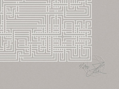 Maze Silkscreen Prints prints numbered signed edition limited drawn hand braided weave maze