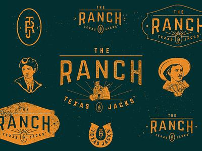 1860 typography badge monogram west texas illustration branding mark logo