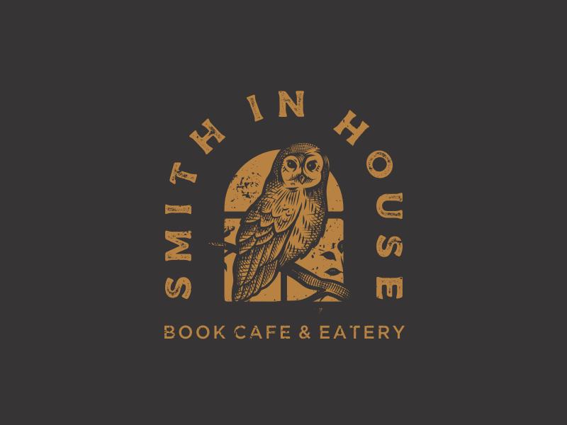 Smith In House window coffee owl night cafe book