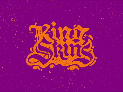King Skins gothic hippie lettering dope stuff psychedelic kingskins
