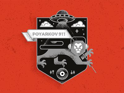 poyarkov ufo music vinyl lion heraldic logo dj