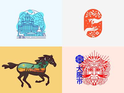 Top4Shots 2018 badge vector symbol character tattoo type typography identity lineart icon branding flat mark lettering print design logotype illustration logo