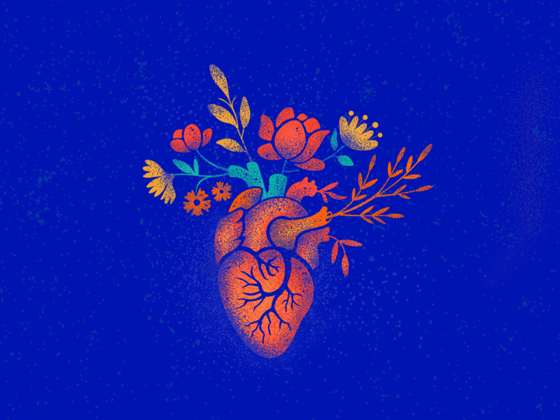 Valentine illustration flowers bouquet heart vector