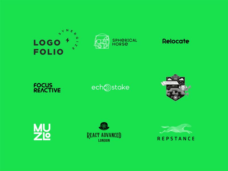logoset synergy vector icon illustration typography lettering type design logotype branding logo