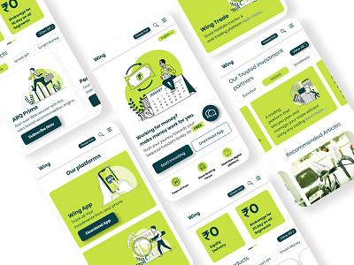 Investment App ui designer mibile app colors illustraton graphic design uiux design investment app ui