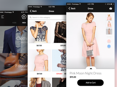 Mobile Commerce App clothes shoping ios ecommerce retail app fashion app mobile payment mobile ecommerce mobile commerce