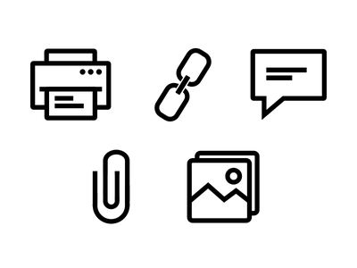 Office Icon Set ios icon icon set docs office minimalism outline icon