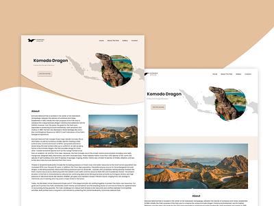Tour - Komodo National Park destination tour travel indonesia uiux ridwanhanafi chocolate white rebranding komodo web apps web ui simple