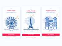 Travel APP guide pages UI