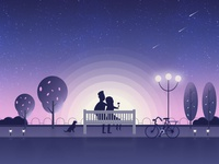 Night Illustration Romantic