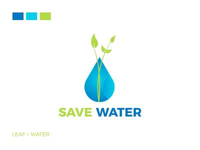 Save Water Logo Design blue green logo type graphic design 3d symbol logo mark icon logo design hand business water drop logo maker save water logo water logo save water water branding logo brand identity
