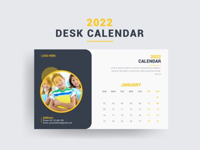 2022 Monthly Desk Calendar Design Template annual templat paper vector day year week monthly kids calendar school calendar calendar template school wall calendar print print item calendar design desk calendar calendar flyer design banner