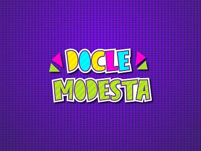 Docle Modesta Logo Design typography toys logo maker logo type modern logo branding for kids childrens illustration kidzone cartoon baby print branding logo design kids kids logo child logo illustration logo children docle modesta logo design